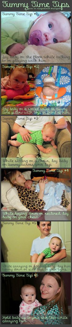 Tummy Time Tips from an Occupational Therapist. Tummy time is important! *Visit pinterest.com/wonderbabyorg for more developmental ideas.