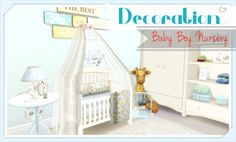 Dinha Gamer: Baby Boy Nursery • Sims 4 Downloads