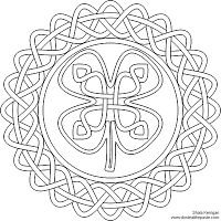 Dont Eat the Paste: 4 Leaf Clover coloring page