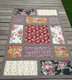 Luna Patch: Quilt Antique Flower