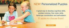 Add a personal touch to your child's toy collection with personalized puzzle. Every puzzle from I See Me! is made with sturdy recycled laminated cardboard. Personalized Books For Kids, Personalized Puzzles, Puzzle Books, Book Gifts, Fine Motor Skills, Self Esteem, Problem Solving, Kids Toys, Preschool