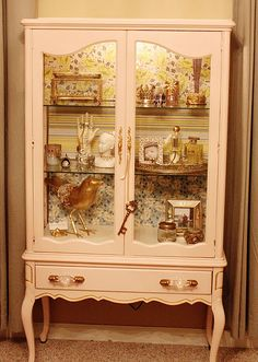 DIY  Jewelry Cabinet Made From China/curio Cabinet . In A Prettier Curio