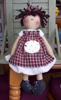 COCCINELLEPAZZE Handmade: uma boneca pequena doce AQUI É O PADRÃO !!!