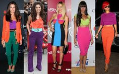Color blocking regained popularity around  2011, but it originated during the 1960s.  The younger generations wore multiple colors as a way to stand out amongst all generations. (4/3/2015)