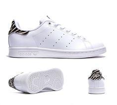 Adidas Originals Womens Stan Smith Trainer | White / Zebra | Footasylum