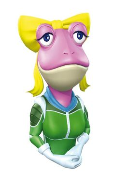 Amanda - Starfox; ove interest and possible future wife of Star Fox Team mechanic Slippy Toad. The two met and fell in love on the planet of Aquas sometime after the events in Star Fox: Assault, but somewhere before the beginning of Star Fox Command.  She is very protective and caring toward Slippy and is not afraid to show it.