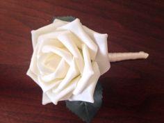 Ivory Boutonnieres Beautiful Rose Budget by KelseysHomeDecor