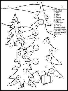 Christmas Trees Christmas Color By Numbers 001 See the category to find more printable coloring sheets. Also, you could use the search box to find wha. Christmas Math, Childrens Christmas, Preschool Christmas, Noel Christmas, Christmas Crafts For Kids, Christmas Activities, Elegant Christmas, Preschool Activities, Christmas Cookies