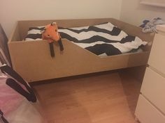 Diy bed for a little boy. Still waiting for some paint.