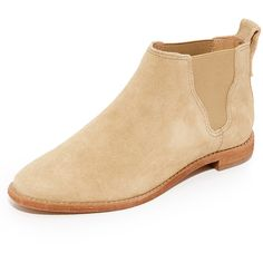 Madewell Bryce Chelsea Boots (12,535 INR) ❤ liked on Polyvore featuring shoes, boots, ankle booties, stacked heel boots, madewell booties, leather booties, madewell and leather chelsea ankle boots