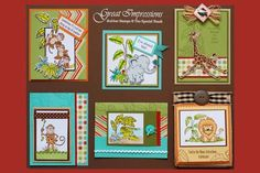 June 2010 DIY Artboard of Cards & Stamps from GreatImpressionsStamps.com
