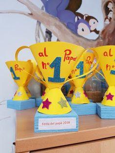 Aprende cómo hacer un trofeo de regalo para el día del padre ~ lodijoella Summer Crafts, Fun Crafts, Crafts For Kids, Paper Crafts, Sports Day Activities, Preschool Activities, Fathers Day Crafts, Happy Fathers Day, Kids Awards