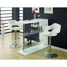 Monarch Specialties, Inc. - Tabouret de bar hydrolique metal chrome / blanc - I 2358 - Home Depot Canada190