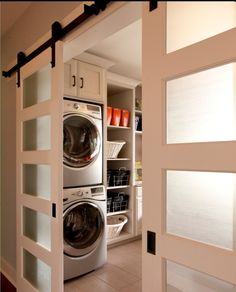 For a small laundry room