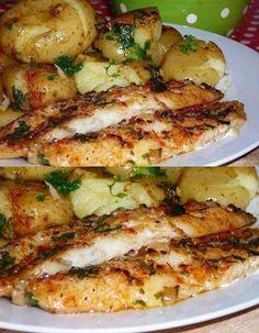 Filé de peixe ao forno com batatas ao murro-Cozinha da Lisa