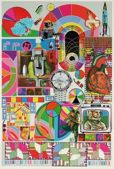 Artwork page for 'Bash', Sir Eduardo Paolozzi, 1971 Art And Illustration, Illustrations, Jasper Johns, Robert Rauschenberg, Stencil Printing, Screen Printing, Cultura Pop, Andy Warhol, Photomontage