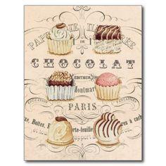 Vintage Chocolat...postcard Postcard