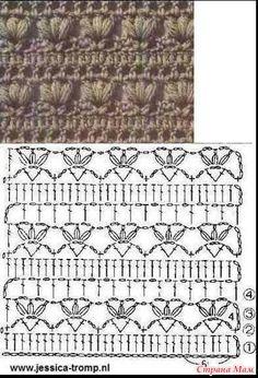 Полосатая туника крючком с лентой из мотивов по центру - Вязание - Страна Мам