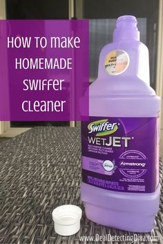 Tired of paying way too much for Swiffer refills cleaner? Make your own at home with household ingredients for a fraction of the cost!