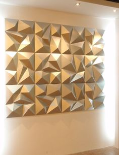 china water proof modern design pu 3d decorative wall panel for ktv hotel living - Decorative Wall Panels