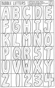 Block letters use the frame for students to draw and embellish drawing bubble letters art handouts bubbles letters doodle ideas easy how to draw bubble letters easy art lessons letters worksheets drawing bubbles expocarfo Choice Image
