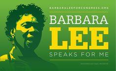 Graphic design for progressive political icon Barbara Lee by Incitement Design