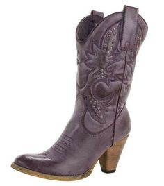 5eb60b497210 high heel Purple Cowboy boots for women - Purple boots Purple Cowboy Boots