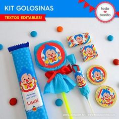 Mejores 14 imágenes de Temática: Clown Party, 3rd Birthday, Birthday Parties, Happy Birthday, Carnival Themed Party, Party Themes, Ideas Para Fiestas, Holidays And Events, Birthday Candles