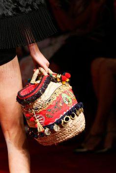 Dolce e Gabbana - Spring/Summer 2015 Fashion Bags, Fashion Accessories, Boho Bags, Mk Bags, Basket Bag, Summer Bags, Boho Gypsy, Beautiful Bags, Ibiza