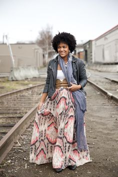 "jacket, cami, maxi skirt   #curvy     #thick  ""if you follow my Curvy Girl's Spring/Summer Closet, make sure to follow my Curvy Girl's Fall/Winter Closet.""   http://pinterest.com/blessedmommyd/curvy-girls-fallwinter-closet/"
