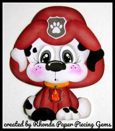 PAW PATROL MARSHALL cartoon character die cut for Premade Scrapbook by Rhonda #Unbranded