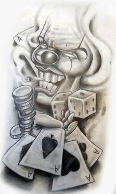 Gangsta Clowns | GANGSTER CLOWN GIRL TATTOO SLEEVE - Free Tattoo Designs | bigg pz | Pinterest ...
