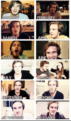 The months of pewds! I think he should make a calendar! :D