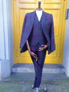 Bespoke tartan suit available from Kilts4all.com. We can make you a tartan or tweed suit from an extensive selection of fabrics. We'd be delighted to help you create a standout outfit