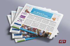 Exercício de diagramação de jornal feito no Indesign.