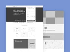Here's a simple #wireframe style landing page #template