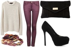 ANNAWII ♥ - HOW TO MATCH THE BURGUNDY SKINNY JEANS