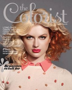 The Colorist - Sept / Oct 2013 | Curly blonde bob with coppery red tones underneath | The Colorist