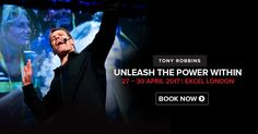Tony Robbins London at Excel Centre where he has 8000 others all enjoying Unleash the power within 2017