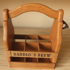 Wood Beer Carrier - Wooden Beer tote - Six Pack Caddy - Personalized Gift…