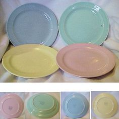 Luray by Taylor Smith & Taylor - came out in the late 30's.  Original pastel colors were Sharon Pink, Windsor Blue, Persian Cream, and Surf Green.