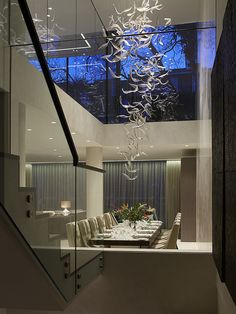 Dining Table and Chandelier Detail, Ashberg House, Chelsea, Designed by Morpheus London
