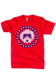 Nelson the Goldendoodle Campaign Tee. #goldendoodle #bullzerk