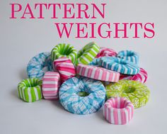 Sugar Tart Crafts: Washer Weights - use these instead of pins for holding down sewing patterns while you cut out the fabric - genius and avoids the inevitable pin injuries!