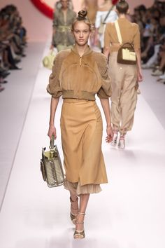 c9f4e8c3d6cd Fendi Spring 2019 Ready-to-Wear Fashion Show Collection  See the complete  Fendi
