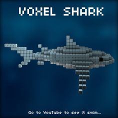 Voxel Shark by Purple-Plasmid.deviantart.com on @deviantART