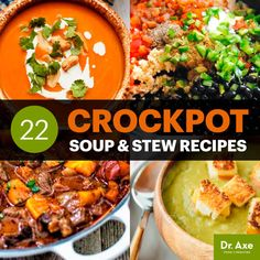 With these crockpot soups and stew recipes, you can add in all the ingredients, step away and come back to a great meal. Here are 22 of the best. Crock Pot Recipes, Sopa Crock Pot, Tomato Soup Recipes, Healthy Crockpot Recipes, Healthy Soup, Slow Cooker Recipes, Cooking Recipes, Crockpot Meals, 21 Day Fix