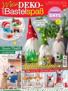 Gallery.ru / Фото #1 - Мein Deko №32 2018 - Natttalya Shops, Shopping Day, Creative, Christmas Ornaments, Holiday Decor, Kids, Crafts, Anna, Magazines