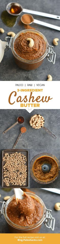 Dive into this creamy 3-ingredient cashew butter by the spoonful! Get the full recipe here: http://paleo.co/cashewbutterrcp