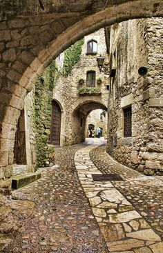 Streets of Catalonia, Spain. Been there and it really is this beautiful
